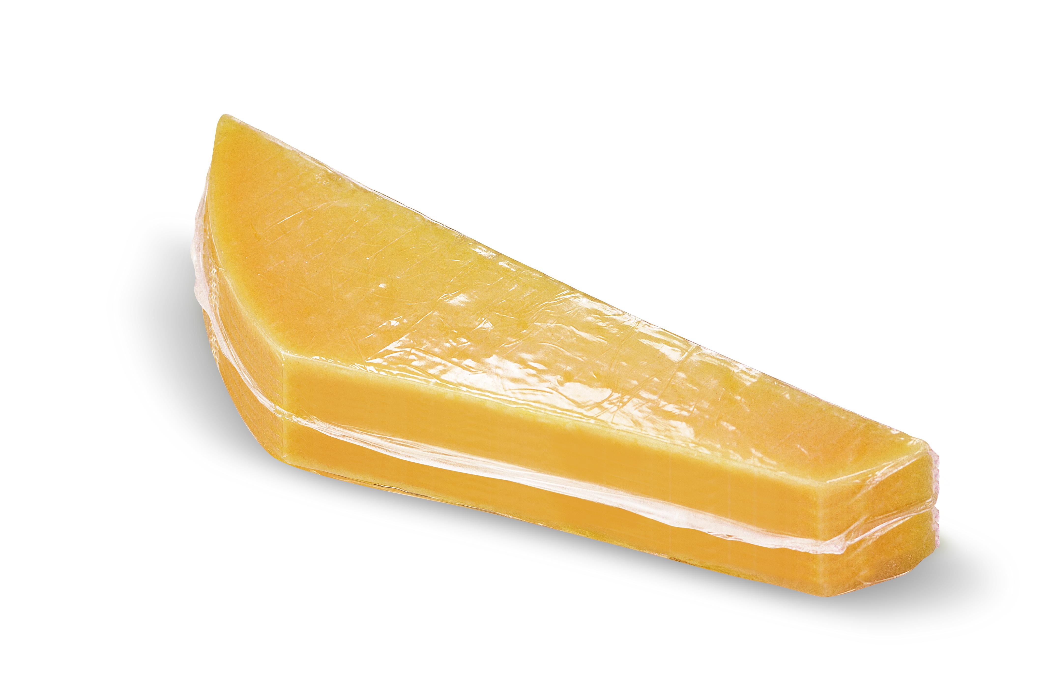 Im Schrumpfbeutel verpackter Käse